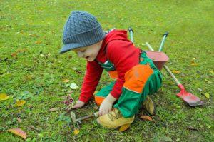 Petits, Jardinier, Jardin, Vêtements, Robe, Râteaux